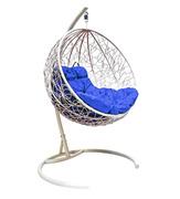 Подвесное кресло Круглое с ротангом белое