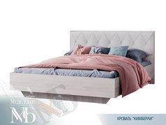 Кровать Кимберли КР-13 ясень белый - белый глянец