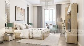 Модульная спальня Белладжио белый глянец - дуб сонома комплект-2