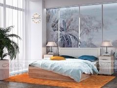 Модульная спальня Маркиза крем-сатин - дуб сонома комплект-2