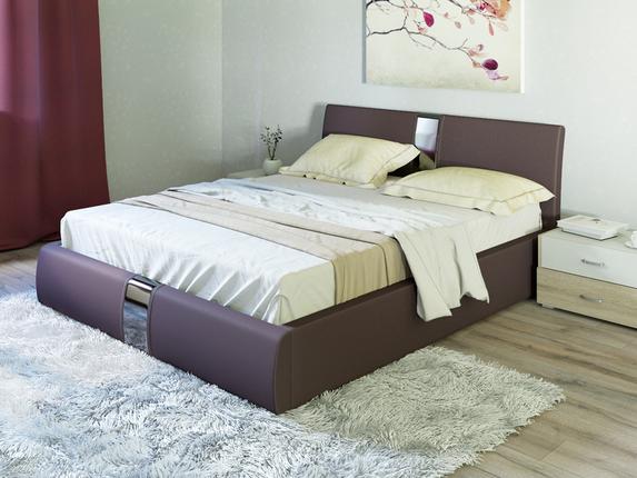 Кровать Вик ТР 340 Челси кожзам гранд шоколад