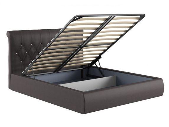 Кровать 1600 Тиффани 3011 Вик ТР 340 кожзам гранд шоколад