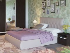 Кровать 1600 Тиффани 3011 Вик ТР 80 кожзам гранд натурель бежевый