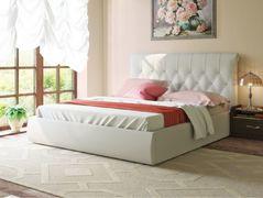 Кровать 1600 Тиффани 3011 Эко 100 гранд кожзам белый
