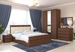 Модульная спальня Ливорно орех донской комплект-1