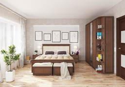 Модульная спальня Ливорно орех донской комплект-2
