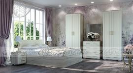 Модульная спальня Маркиза крем-сатин - дуб сонома
