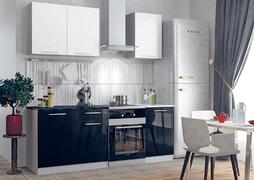 Кухня Олива 1,5м белый - черный