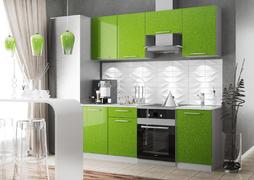 Кухня Олива 2,1м зеленый металлик
