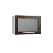 Шкаф верхний горизонтальный со стеклом Олива ПГС 500 хамелеон