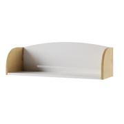 Полка ПЛД 800.1 Сканди дуб бунратти - белый глянец