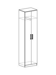 Шкаф со скалкой Машенька ШК-203 шимо темный - шимо светлый