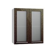 Шкаф верхний со стеклом Олива ПС 600 хамелеон