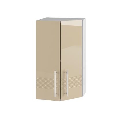 Шкаф верхний торцевой угловой Капля ПТ 400 кофе с молоком