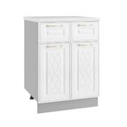 Шкаф нижний с 2мя ящиками Вита С2Я 600 белый