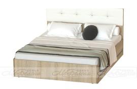 Кровать Белладжио КР-05 дуб сонома - белый глянец