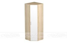 Шкаф угловой Белладжио ШК-01 дуб сонома - белый глянец