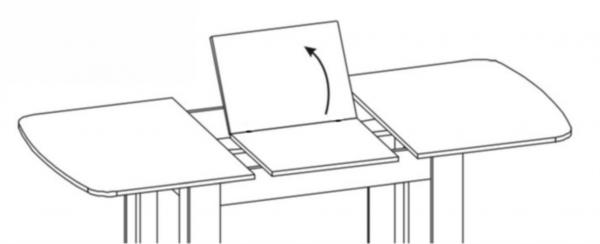 Стол раздвижной Вектор-11 капучино