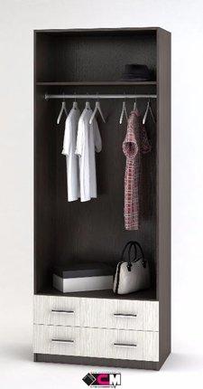 Шкаф Дуэт 2-х дверный с 2-мя ящиками венге - белфорт