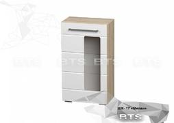 Шкаф многоцелевого назначения Милан ШК-17 сонома - белый глянец