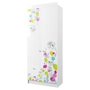 Шкаф с ящиками ШД 900.1 Радуга белый глянец с фотопечатью - белый