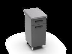 Шкаф нижний с 1 ящиком Крафт ШН 1я 400 бетон темный