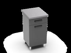 Шкаф нижний с 1 ящиком Крафт ШН 1я 500 бетон темный