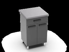 Шкаф нижний с 1 ящиком Крафт ШН 1я 600 бетон темный