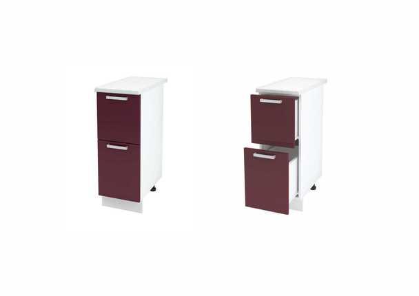 Шкаф нижний с 2мя ящиками Дина ЛДСП принт ШН2Я 300