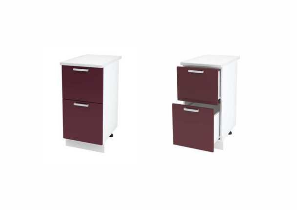 Шкаф нижний с 2мя ящиками Джулия ШН2Я 400