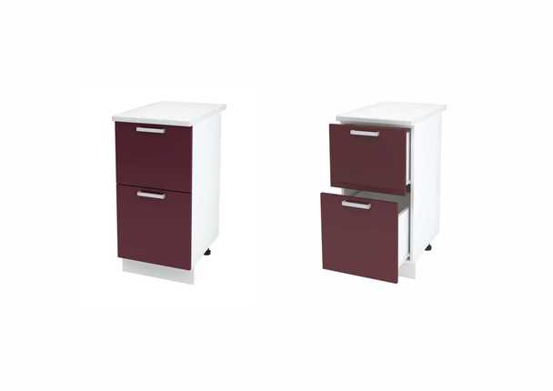 Шкаф нижний с 2мя ящиками Дина ЛДСП принт ШН2Я 400