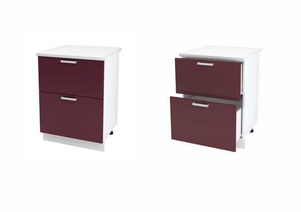 Шкаф нижний с 2мя ящиками Дина ЛДСП ШН2Я 600