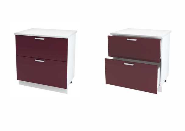 Шкаф нижний с 2мя ящиками Дина ЛДСП ШН2Я 800
