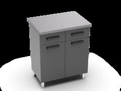 Шкаф нижний с 2 ящиками Крафт ШН 2я 800 бетон темный
