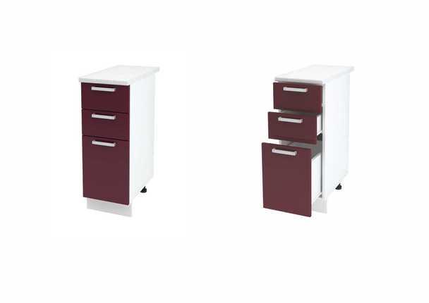 Шкаф нижний с 3мя ящиками Джулия ШН3Я 300