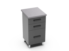 Шкаф с 3 ящиками Контемп ШН 3я 500 графит
