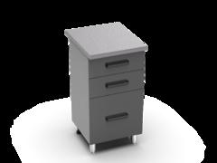 Шкаф нижний с 3мя ящиками Контемп ШН3Я 500