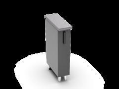 Шкаф нижний бутылочница Крафт ШНБ 200 бетон темный