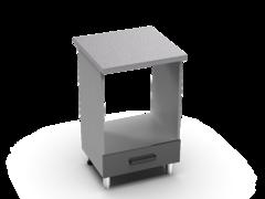 Шкаф нижний духовой Крафт ШНД 600 бетон темный