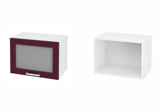 Шкаф верхний горизонтальный со стеклом Дина ЛДСП принт ШВГС 500