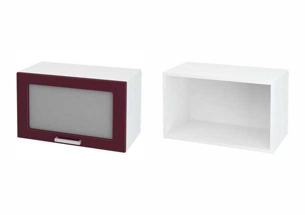 Шкаф верхний горизонтальный со стеклом Дина ЛДСП принт ШВГС 600