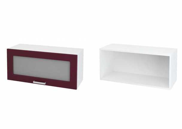 Шкаф верхний горизонтальный со стеклом Дина ЛДСП принт ШВГС 800