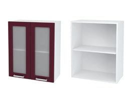 Шкаф верхний со стеклом Глория ШВС 600
