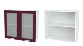 Шкаф верхний со стеклом Глория ШВС 800