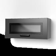 Шкаф верхний окап со стеклом ШВС 800х Контемп индиго
