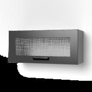 Шкаф верхний со стеклом Крафт ШВС 800х темный бетон