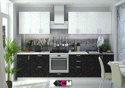 Модульная кухня серии Дина ЛДСП принт черный