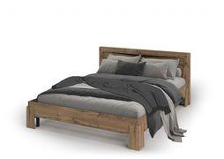 Кровать с ортопедом Паола КР-701 дуб крафт золотой