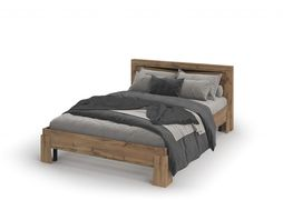 Кровать с ортопедом Паола КР-702 дуб крафт золотой