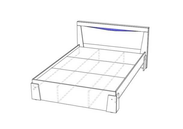 Кровать Паола КР-703 дуб крафт золотой
